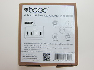 Bolse 25W (5V/5A) 4-Port USB Wall/Desktop Charger