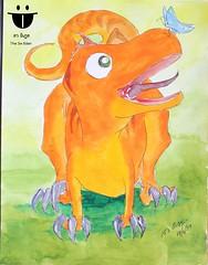 ไดโนเสาร์กินเนื้อ กับน้องผีเสื้อ