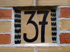 37 tile (Eva the Weaver) Tags: house tile painted number 37 address smyckegatan number2015 37frame