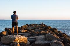 Oteando el horizonte (cives-expat) Tags: sunset españa beach spain playa andalusia anochecer fuentebravía elpuertodesantamaría