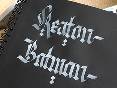 Keaton-Batman. (Syntax One) Tags: textura gothic calligraphy blackletter