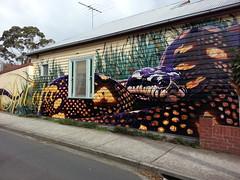 Sirum... (colourourcity) Tags: streetart art graffiti mural snake awesome melbourne f1 formulaone python lbd venom msa spilota weatherboards sirum freshones sirumone sirum1 colourourcity sirumvsvenom