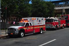 FDNY EMS Haztec Ambulance 297 17 Zebra & Metropolitan Fire Engine 62 (Triborough) Tags: nyc newyorkcity ny newyork ford mfa bronx engine ambulance firetruck fireengine thebronx mack ems fdny f450 fseries fdnyems newyorkcityfiredepartment bronxcounty mackcf wheeledcoach cf600 engine62 westconcourse haztec metropolitianfireassociation 17zebra