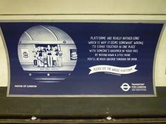 201406083 London subway station 'St. Paul's' (taigatrommelchen) Tags: uk railroad urban london station subway advertising railway tunnel icon transit mass cityoflondon 20140625