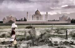 Taj Mahal, an artistic expression