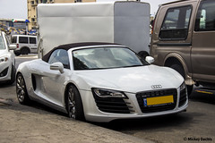 Audi R8 Spyder (M_Dachis) Tags: cars car sport israel automobile tel aviv automotive super mickey spyder german audi v8 spotting r8 dachis mdachis
