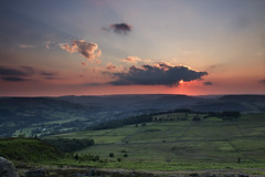 Sunset from Over Owler Tor EXPLORED :)  # 364 29/07/14 (Leigh_at_ch9) Tags: sunset rural evening countryside peakdistrict overowlertor