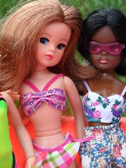 More Sindy summer pool party fun! (miss♡sindy) Tags: summer sun pool girl sunshine fun toys sand doll dolls relaxing auburn trendy marx lovely dolly paddling gayle active dollies pedigree lively sindy actives