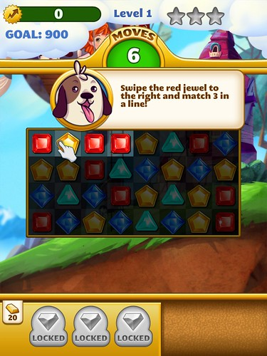 Jewel Mania Tutorial: screenshots, UI