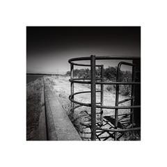 Gate 'n' Bridge (Furious Zeppelin) Tags: bridge bw white black river nikon gate path far humber ings d80 ©furiouszeppelin ©fz