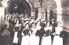 Liverpool Royal Infirmary nurses carol singing, 1930s (liverpoolhls) Tags: history liverpool hospital royal medicine nursing infirmary