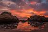Water on Mars (Tōn) Tags: ocean california sunset seascape beach clouds pacificocean pescadero seastacks waterscape