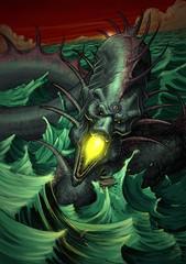 RYUJIN DIOS DRAGON MARINO (emy mariani) Tags: illustration muerte fantasia rol ilustracion mariani
