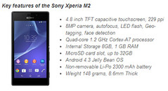Xperia M2 Features