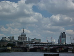 201406058 London Thames and City of London (taigatrommelchen) Tags: city uk bridge sky building london thames skyline clouds river icon sight cityoflondon 20140625