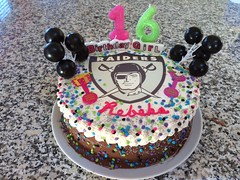 Raiders cake by Brenda, Santa Cruz, CA, www.birthdaycakes4free.com