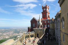 Sintra_behind (Dany3R9) Tags: castle portugal colours sintra da pena palacio visitportugal