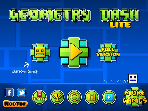 Geometry Dash Main Menu: screenshots, UI