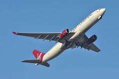 'VS89W' (VS0089) LGW-UVF (A380spotter) Tags: takeoff departure climb climbout gearinmotion gim retraction belly airbus a330 300x gvgem diamondgirl virginatlanticairways vir vs vs89w vs0089 lgwuvf runway08r 08r london gatwick egkk lgw
