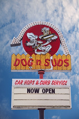 Dogs n Suds (Poteet Photo) Tags: retroroadsidephotography chasingneon signgeeks neonsign neon dogsnsuds michigan montague mi