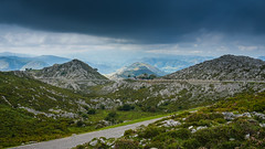 Take the high road (TanzPanorama) Tags: mountain mountainrange picosdeeuropa picos road tanzpanorama fe1635mmf4zaoss sel1635z zeiss landscape scenic vista nature ng travel flickr cloud hills highlands spain asturias rock rockformation peaksandvalleys mountains