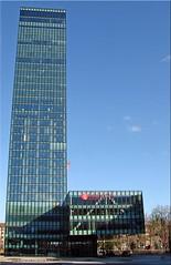 """Der """"schiefe Turm"""" von Basel/Schweiz -  The leaning tower of Basel (Jorbasa) Tags: jorbasa hessen wetterau germany deutschland geotag messeturm turm tower basel stadt town city schweiz switzerland hochhaus skyscraper gebäude building leaningtower schieferturm"""