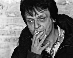 Francesco (FraConti84) Tags: bw bwpeople bwportrait bnwshot bnwmood bnwpeople bnwportrait bnwhardlife hardlife biancoenero biancoenerosenigallia ritratto portrait cigarette francesco intenselook intensity hardtimes senigallia marche italy canon