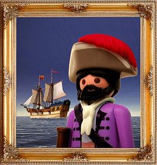Portrait of the Chevalier Francois de Hadoque (Playmadoque) Tags: playmobil ship pirate royalnavy ghost flyingdutchmann admiral captain tintin herge licorne haddock hadoque comic moulinsart unicorn geobra