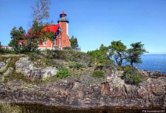 A Rocky Cove at Michigan's Eagle Harbor Light Station (PhotosToArtByMike) Tags: eagleharbor michigan mi keweenawpeninsula upperpeninsulaofmichigan rockycove upperpeninsula up uppermichigan lakesuperior autumn autumnleaves rockycoastline village