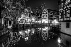 Strasbourg (Bruno MATHIOT) Tags: hdr photomatix monochrome mono bw black blanc white wideangle city ville europe 1020mm sigma canon 760d night tripod trépied