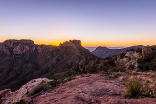 Sunset atop Chisos Mountains - Big Bend National Park, Texas