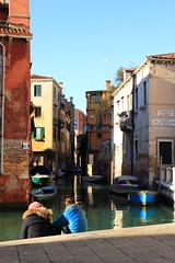 Colti in un tranquillo acquerello (il Lùis) Tags: canale venezia pausa due