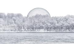 Biosphere, Montréal. (wfelizola) Tags: montreal canada snow cold white monochrome quebec biosphere