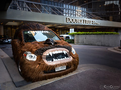 Chewie Car At DoubleTree (Evan Gearing (Evan's Expo)) Tags: auto automobile cardinals chewbacca chewey chewie doubletree hilton hotel houston lightroommobile lrmobile starwars texas tx txiphone