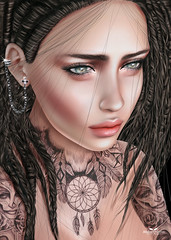 Lyra (atakurt) Tags: illustration drawing secondlife