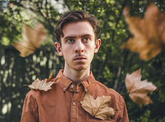 87/365 (Chris Gray Photo) Tags: orange colour autumn fall leaves growth change grow nature outdoors people sunlight sun light portrait portraiture seasons selfportrait self conceptual fineart canon 50mm 365project