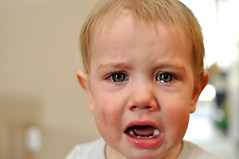 Today's mood: unhappy (c.sscott) Tags: 35mm nikon d90 baby child toddler crying portrait