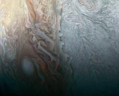 When Jovian Light and Dark Collide (NASA's Marshall Space Flight Center) Tags: nasa marshall space flight center solar system beyond jpl nasa's jet propulsion laboratory juno jupiter