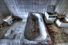 In the bathroom... by knife... (urban requiem) Tags: bathroom bathtub blood massacre slaughtered giclures coulures sang blut urbex urban exploration urbanexploration urbanrequiem verlaten verlassen abandonné abandoned lost old decay derelict hdr 600d 816 sigma germany allemagne deutschland house wheelchair schloss chateau wheelchairs houseofthewheelchairs houseofthewheelchair