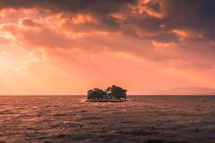 sunset 1697 (junjiaoyama) Tags: japan sunset sky light cloud weather landscape colour lake island water nature winter