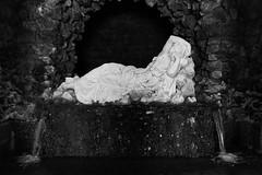 DSC03310 (olliethewino) Tags: blackandwhite sculpture stourhead grotto