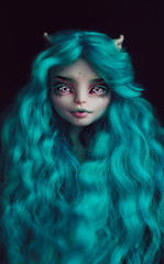 New wig_2 (Klio.13) Tags: monsterhigh monster high mattel dolls dollphotography ooak customdoll toyphotography toys peppermint wig dollwig dollhair