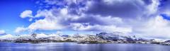 Straumsnes (Mark Ledingham Photography) Tags: landscape seascape sea norwegiansea atlantic arctic water clouds snow senja norway straumsnes norge spring panorama fujifilm fujifilmxt1
