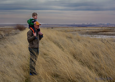 Father & Son (HarryMiller002) Tags: freezeoutlake montana outdoors windy grass sky clouds people father son fathersandsons
