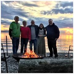 Friends United Again (jcurtis4082) Tags: squalicum lake road miles jere kimberly kim john jeff sandypoint beachdenmark camera iphone sunset