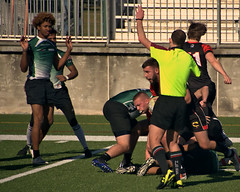 Marshall v. Blackhorse Rugby (SUNY Fredonia) (Mike McCall) Tags: copyright2017mikemccall stpatricksdayrugbytournament 2017 savannah chathamcounty georgia usa marshall thunderingherd herd sunyfredonia blackhorse rugby sport sports men daffinpark university college