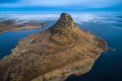 Iceland 2017 (Sandro Bisaro) Tags: kirkjufell iceland island islanda aerialview aerial landscape landschaft drone dronephotography djiphantom4pro sandrobisaro mountain kirk clouds sea