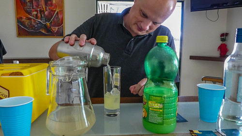 Mixing a cocktail in the Suriname House of Rum