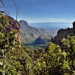 A Valley in the Chisos Mountains with Views to Other Peaks... (Big Bend National Park) thumbnail