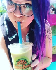 "I think I found the real unicorn. Skip fake colors (unless it's in your hair) and try @juiceland instead. This ""Paradise Found"" is gonna power me through an insane day. ... #unicornfrappuccino # #lol #nope #juiceland #smoothie #greensmoothie #mermaidhair (ClevrCat) Tags: ifttt instagram i think found real unicorn skip fake colors unless its your hair try juiceland instead this paradisefound is gonna power me through an insane day unicornfrappuccino lol nope smoothie greensmoothie mermaidhair selfie ireallycametovisitafriend"